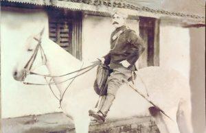 Devayya on a horse
